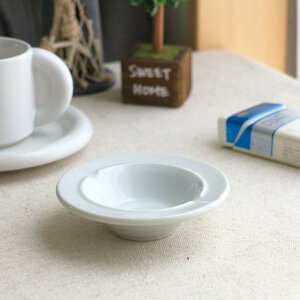 シンプル丸灰皿 10.5cm 国産 美濃焼 灰皿 アシュトレイ 白い陶器 カフェ 器 お皿 皿 食器 陶器 磁器 陶磁器 シンプル おしゃれ オシャレ かわいい カワイイ デザート スイーツ