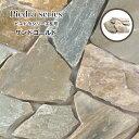 乱形 石材 天然石 乱形石 玄関 アプローチ イエロー グリーン【ピエドラシリーズ 乱形 サンドゴールド 1束=0.5平米販売】