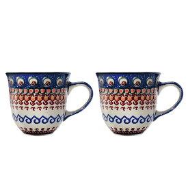 セラミカ(ツェラミカ)【アランチャ】カフェカップ(0.2L) ペアセット|ポーリッシュポタリー(ポーランド陶器・北欧・Ceramika Artystyczna)|専用ボックス入り|※包装のしメッセージカード無料対応
