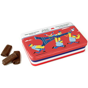 Le Chocolat des Francais(ル・ショコラ・デ・フランセ)発動機 90g(フレンチクリスピーウェハース)缶入[冷蔵]【3〜4営業日以内に出荷】