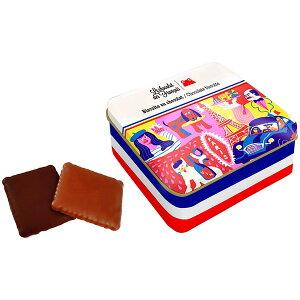 Le Chocolat des Francais(ル・ショコラ・デ・フランセ)2CV 90g(ミルク&ダークチョコレート・ビスケット)缶入[冷蔵]【3〜4営業日以内に出荷】