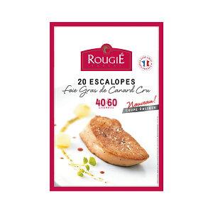 ROUGIE社フランス産フォアグラ・ド・カナール エスカロップ約40 - 60gカット[20枚 約1kg]クール[冷凍]便でお届け【3〜4営業日以内に出荷】