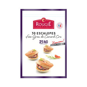 ROUGIE社フランス産フォアグラ・ド・カナール エスカロップ約25 - 40gカット[1kg]クール[冷凍]便でお届け【3〜4営業日以内に出荷】