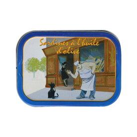 フェリーノ オイルサーディン 黒猫とパン職人 115g[常温/全温度帯可]【3〜4営業日以内に出荷】