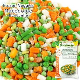 《ボンデュエル》フランス産 冷凍野菜 マセドアン2.5kg[にんじん、グリーンピース、さやいんげん、インゲン豆、カブ][冷凍][賞味期限:2020年11月30日]【3〜4営業日以内に出荷】
