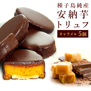 安納芋トリュフキャラメルチョコレート 5個入 種子島産100% スイートポテト チョコ洋菓子 和菓子 スイーツ 内祝い ギフト プレゼント ホワイトデー 誕生日