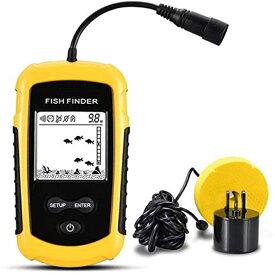 魚群探知機 携帯型 ポータブル 日本語説明書付き ソナー バス釣り フィッシュファインダー ワカサギ釣り