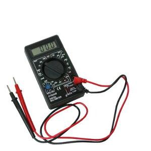 送料240円 小型 デジタルテスター 電池入り 電流 電圧 抵抗 計測 電圧/電流測定器