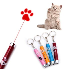送料無料 ペット用 LED ライト ポインター 猫 おもちゃ ねこじゃらし ネコちゃんの運動不足解消に ネズミ/足跡/魚 模様