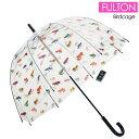 FULTON フルトン バードケージ ビニール傘 長傘 レディース傘 雨傘 鳥かごのようなドーム型のフォルムが魅力的なアンブレラ FULTON Birdcage-2