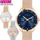 フルラ FURLA 腕時計 メトロポリス METROPOLIS レディース 時計 メッシュベルト 31mm ローズゴールド シルバー