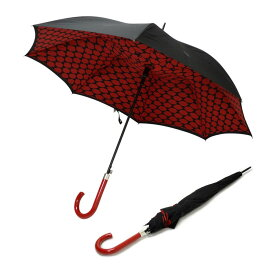 フルトン Fulton L723 029299 Bloomsbury-2 Lips Grid 「Lulu Guinness」ルルギネス コラボモデル ワンタッチ ジャンプ傘 自動開き 長傘 2重構造 ブルームズバリー アンブレラ 表と裏で異なるデザインが魅力的