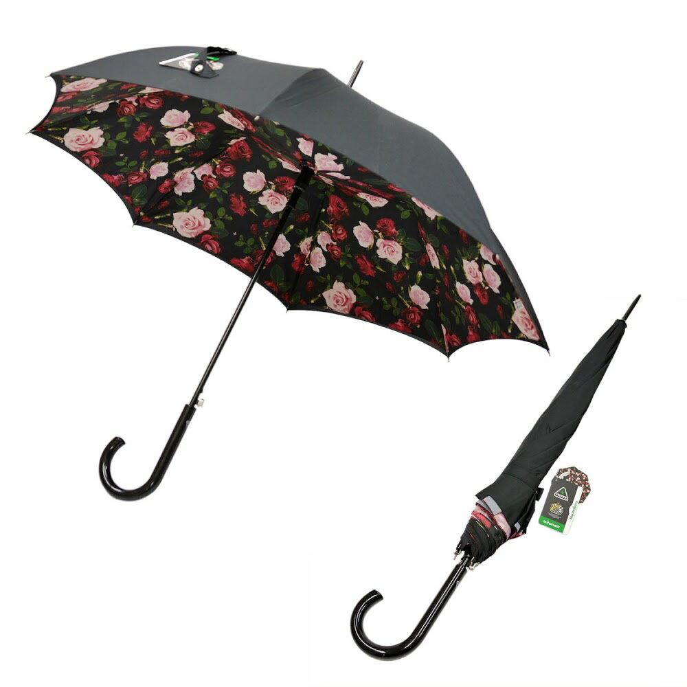 フルトン Fulton L754 032756 Bloomsbury-2 Enchanted Bloom ワンタッチ ジャンプ傘 自動開き 長傘 2重構造 ブルームズバリー アンブレラ 表と裏で異なるデザインが魅力的