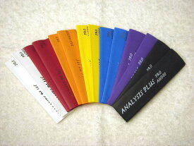 【メール便】アナリシスプラスオリジナル 熱収縮チューブ 1枚 G&H ミッドサイズプラグ用 カラーバリエーション 7色 白 赤 オレンジ 黄色 青 紫 黒 Analysis Plus 文字入り