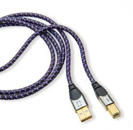 パープルプラスUSB 2m Analysis Plus USBケーブル A-Bタイプコネクタ デジタルケーブル 2.0規格 480Mbps 30金メッキ 200cm Purple Plus アナリシスプラス【送料無料】 【あす楽】