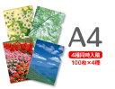 A4クリアファイル印刷100枚×4種=400枚