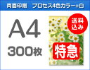 【特急便】A4クリアファイル300枚