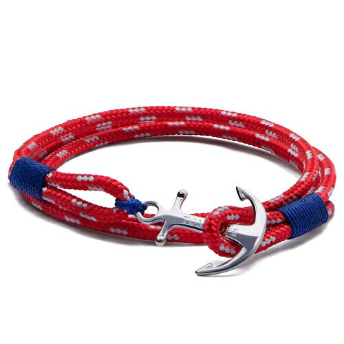 TOM HOPE Anchor Cord Bracelet red3