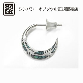 SYMPATHY OF SOUL Feather Inlay Hoop Pierce