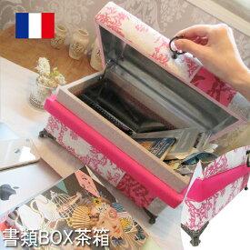 ピンク系茶箱5KH W35×D25×H17 ジュエリーボックス ジュエリーケース アクセサリーケース アクセサリー収納 アクセサリーボックス こだわり品 コフレ ギフト プレゼント 可愛い 姫系 猫脚 インテリア茶箱 ロココ アンティーク