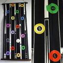 手拭いタペストリー『Ball & Cue』(タペ棒セット)【ビリヤード、billiards、ボール、キュー/手ぬぐい/掛軸】(包装、のし不可)