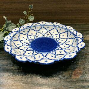 【花型ギザギザ  11cm】青白陶器青白食器パイナップル柄陶器 小鉢タイ料理アジアン料理タイ雑貨