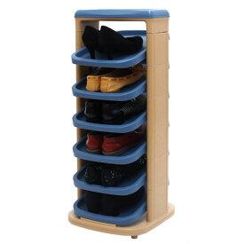 回転シューズラック スリッパラック スリッパ ラック シューズケース シューズラック スリム 省スペース タワー キッズ 下駄箱 シューズボックス 靴箱 靴入れ 玄関収納 スリッパ収納 ポップデザイン おしゃれ
