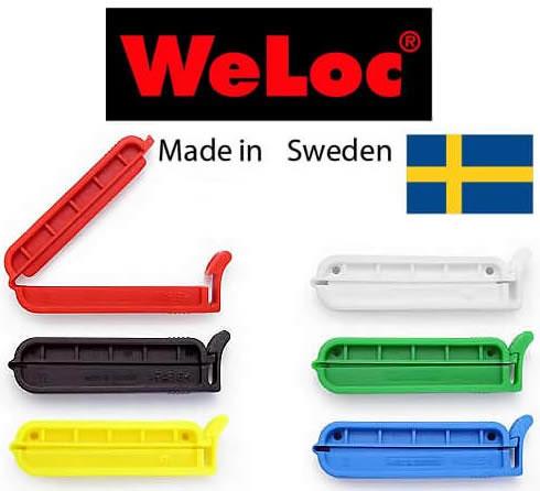 ウェーロック WeLoc PA7 スウェーデン製ワンタッチ袋とじ、キッチンクリップ、7センチ幅6個入り