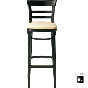 【カラーオーダー・張地が選べる】【フレームカラー3色:NA/DB/BL】木製カウンターチェア(リカータカウンター)LICATAクレス脚カット可能