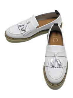 Fred Perry(후렛드페리) 탓세르로파(Hawkhurst Leather Womens B5285W) White
