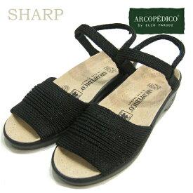 アルコペディコ サンダル ARCOPEDICO エリオさんの靴クラシックライン シャープ SHARP ブラック 黒ポルトガル製 靴