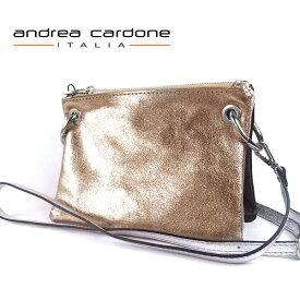 イタリア製 レディース バッグ andrea cardone ITALIA レザー 3bags ring ショルダーバッグ 3カラー 組み合わせ 自由自在 ブロンズ/ シルバー/ ラメブラック 本革 BAG アンドレア カルドーネ MADE IN ITALY GENUINE LEATHER