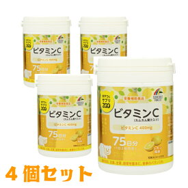 【4個セット】ユニマットリケン おやつにサプリZOO ビタミンC 4903361680453