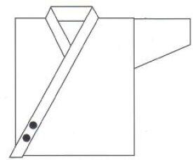 合気道衣 前合せ刺繍(約2.5 x 2.5cm)(1文字200円)【合気道着】