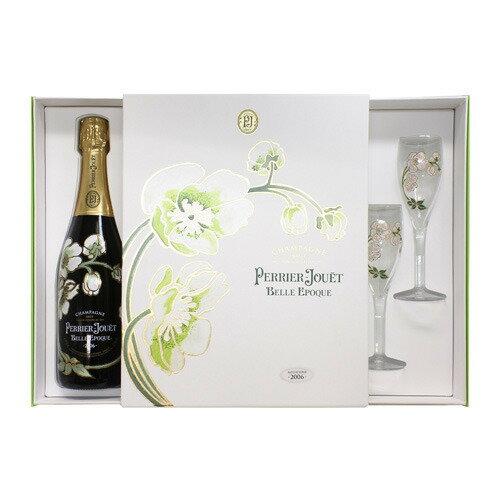 ペリエ ジュエ ベル エポック グラスセット 750ml[Perrier Jouet][シャンパン][シャンパーニュ][ギフト][プレゼント][花柄]