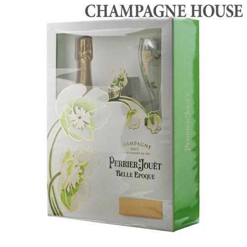 【P10倍】 2/20 0:00〜/25 23:59までペリエ ジュエ ベル エポック グラスセット 750ml[Perrier Jouet][シャンパン][シャンパーニュ][ギフト][プレゼント][花柄][ホワイトデー]