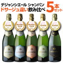 送料無料 デジャンシエール ドサージュ違いシャンパン飲み比べ5本セット シャンパン シャンパーニュ シャンパンセット…