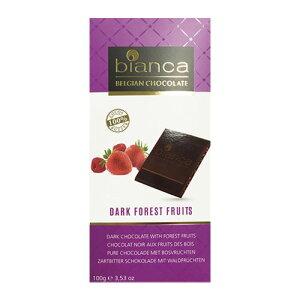 タブレットチョコレート ビアンカ ダーク フォレスト フルーツ 100g フルーツ香料使用 ベルギー クリスマス バレンタイン ホワイトデー 義理チョコ 長S