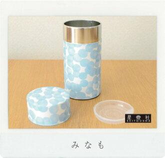 茶筒200g事情(大)保存罐茶罐和睦粘贴纸茶筒星灯公司
