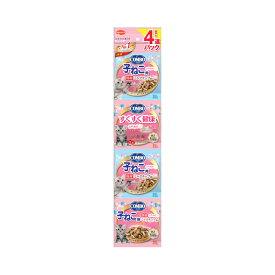 日本ペット コンボ キャット 連パック 子ねこ用 ミルクチップ添え 140g(35g×4連) 関東当日便