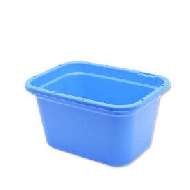 簡易梱包 E−CON 角型タライ 60型 青 水抜栓付(幅60.6×奥行き45.6×深さ34cm 約56L) お一人様1点限り 同梱不可 関東当日便