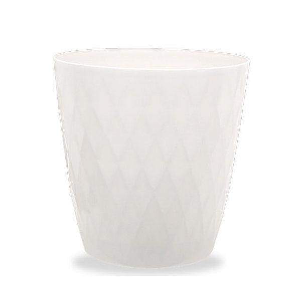 リッチェル キンバリー 鉢カバー ホワイト 10号  ガーデニング 鉢カバー 観葉植物 インテリア ダイヤモンドカット 関東当日便