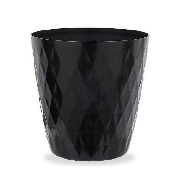 アウトレット品 リッチェル キンバリー 鉢カバー ブラック 10号  ガーデニング 鉢カバー 観葉植物 インテリア ダイヤモンドカット 関東当日便