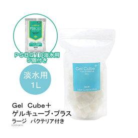 (熱帯魚)淡水用ろ過材 Gel Cube+(ゲルキューブ・プラス) バクテリア付き ラージ 1リットル+PSBQ10 30mL 5個 本州四国限定
