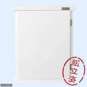 □メーカー直送 (組立済)水槽台 ウッドキャビ ホワイト 600×300 60cm水槽用(キャビネット) 同梱不可・別途送料