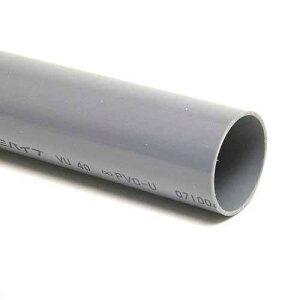 塩化ビニールパイプVU40(肉薄管)48cm(色:グレー)