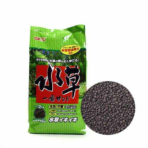 GEX 水草一番サンド 2kg ジェックス 熱帯魚 用品 ソイル 関東当日便
