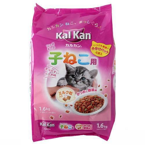 カルカン ドライ 12か月までの子ねこ用 かつおと野菜味ミルク粒入り 1.6kg(小分けパック4袋入)お一人様10点限り 関東当日便