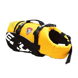 小型犬用ライフジャケット EZYDOG イージードッグ DFDスタンダード XS イエロー (胴周り36〜66cm) 関東当日便