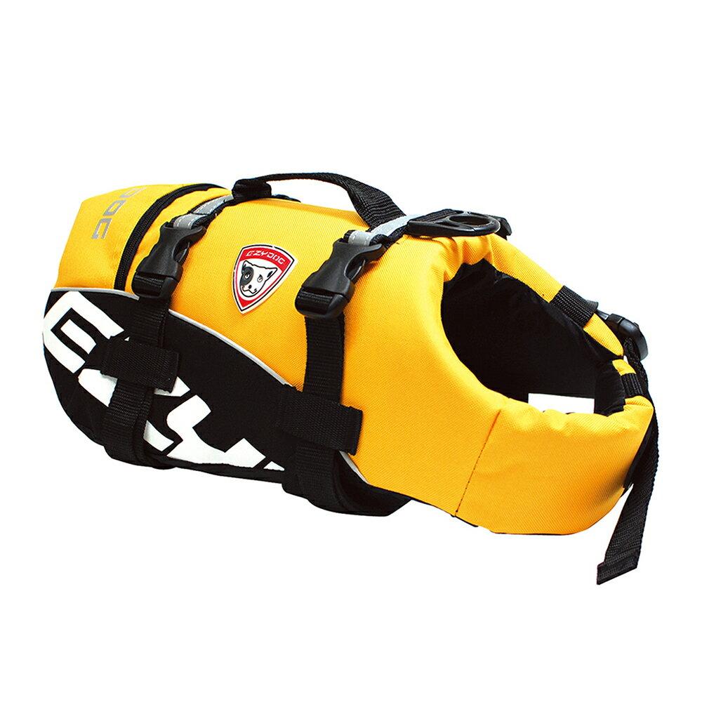 小型犬〜中型犬用ライフジャケット EZYDOG イージードッグ DFDスタンダード S イエロー(胴周り65〜101cm) 関東当日便